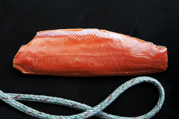 Wild coho salmon whole side fillet loki fish company for Flash frozen fish