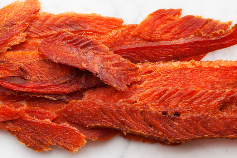 Dried Wild King Salmon (2oz pack)