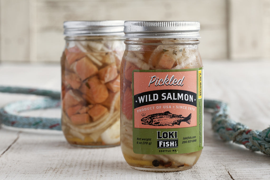 Pickled Wild Coho Salmon - Loki Fish Company