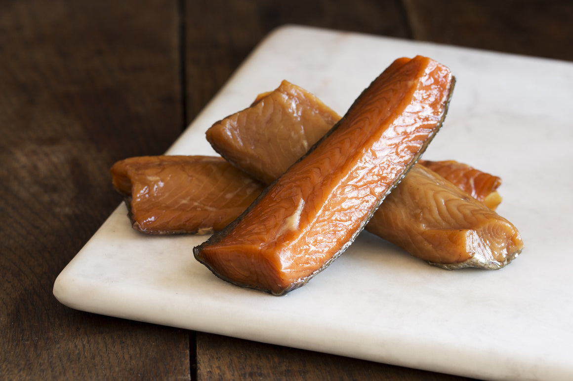 Smoked Keta Salmon Candy Portions - Loki Fish Company