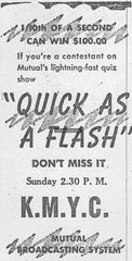 Quick As A Flash Old Time Radio Show