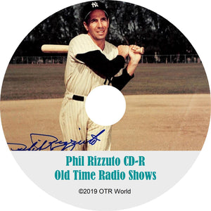Phil Rizzuto Sports Caravan OTR Old Time Radio Shows MP3 On CD 3 Episodes