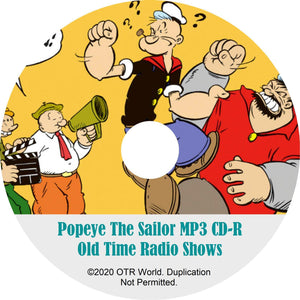 Popeye The Sailor OTR Old Time Radio Shows MP3 On CD 9 Episodes