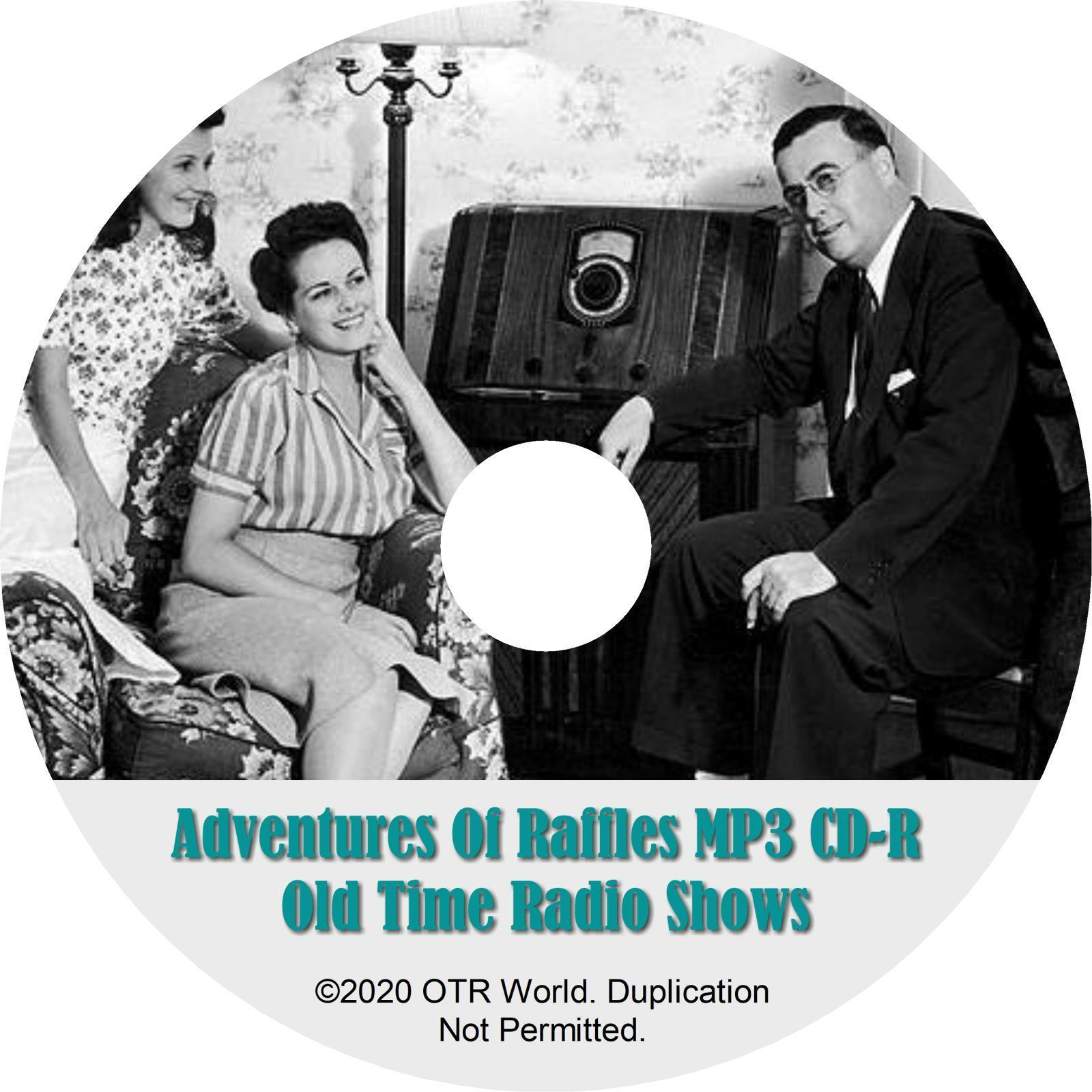 The Adventures Of Raffles OTR Old Time Radio Shows MP3 On CD 4 Episodes - OTR World