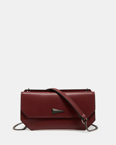 The Fixer - Cross-Body Burgundy Leather Bag - Long Strap with Fixer Cross-Body Bag - She Lion