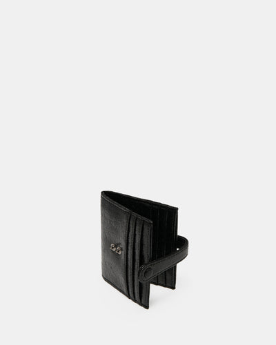 The High Roller - Black Multiple Card Holder - Double Studded Closure - She Lion