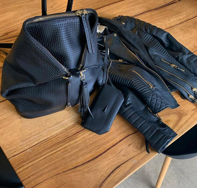 ONLY 2 LEFT - The Negotiator Backpack - Black Weave