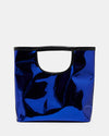 The Risk Taker - Large Electric Blue Tote Bag - Back View - She Lion