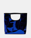 The Risk Taker - Large Electric Blue Tote Bag - Another Front View - She Lion