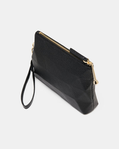 The Nimble Zip Pouch - Black Triangle