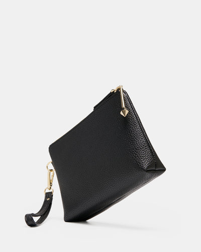 The Nimble Zip Pouch - Smooth Black