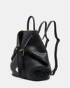 The Negotiator - Black Leather Convertible Backpack - Negotiator Backpack with Straps - She Lion