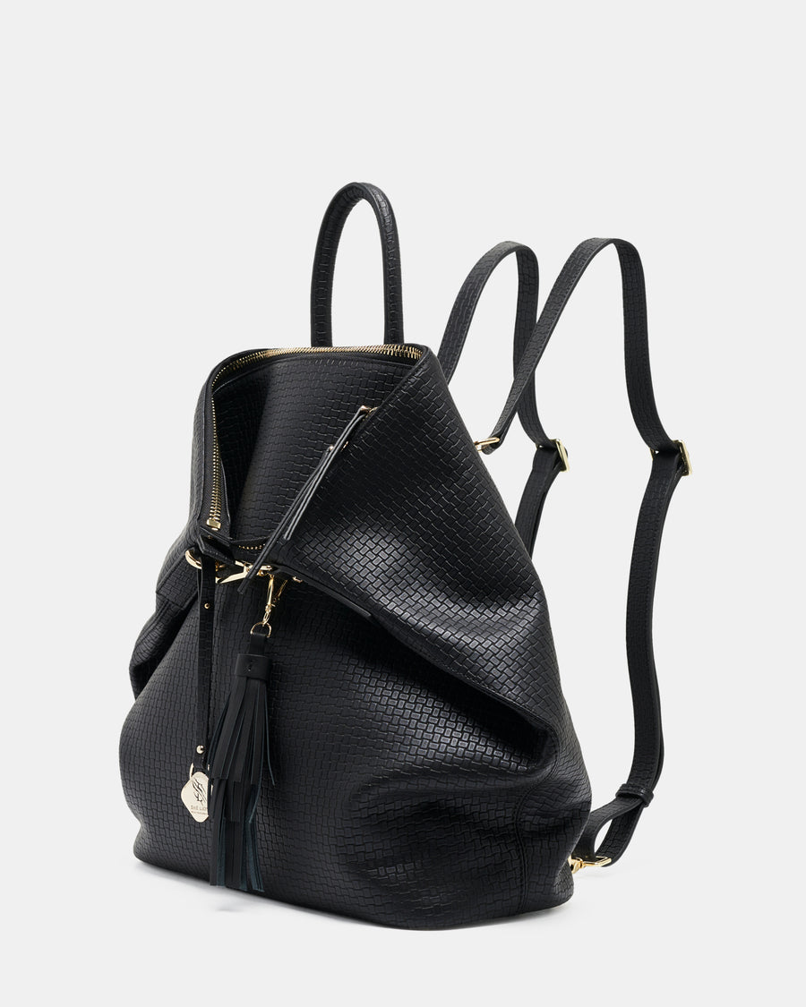 ONLY 3 LEFT - The Negotiator Backpack - Black Weave