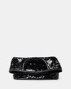 The Risk Taker - Large Black Sequin Tote Bag - Front Fold - She Lion
