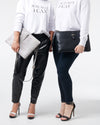 The Tycoon Tablet & Laptop Bag - Black & White