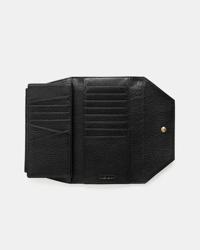The Insider - Black Leather Multiple Card Holder Wallet - Internal View - She Lion