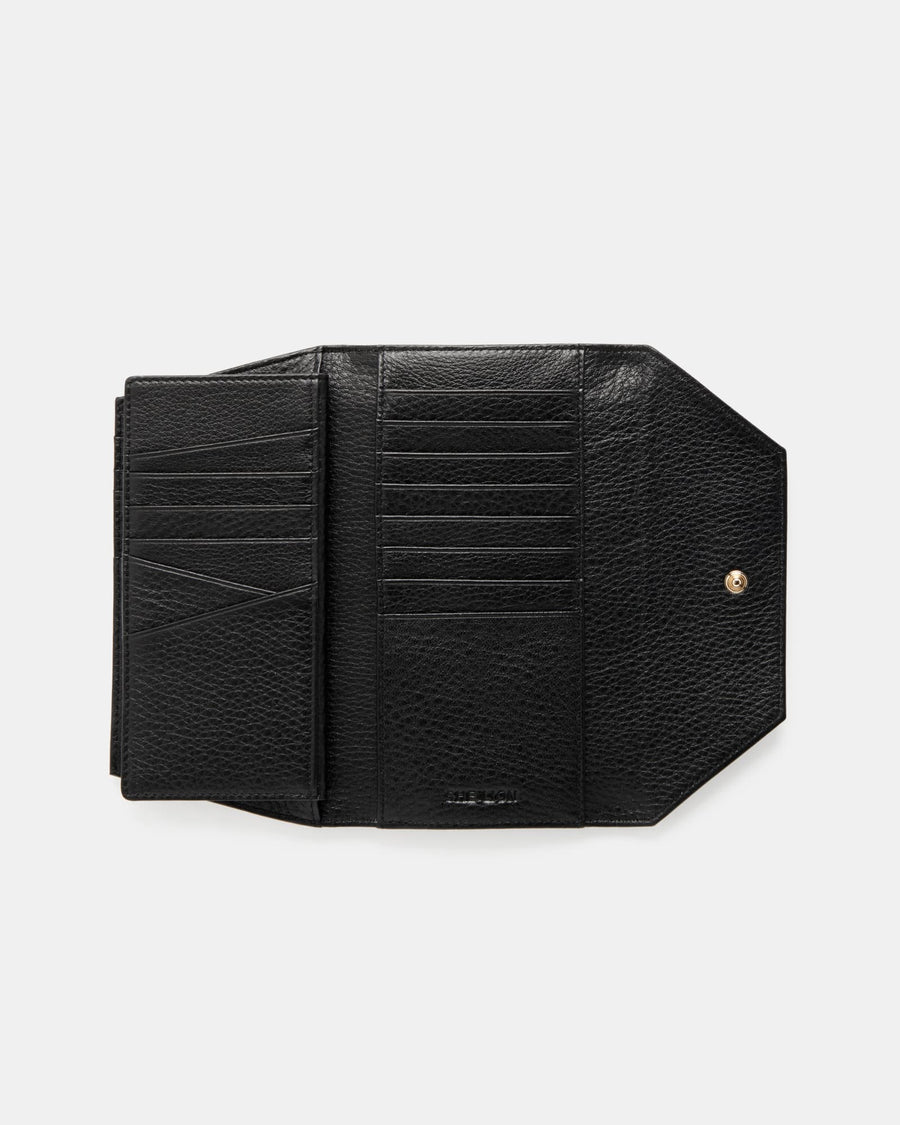 The Insider - Black Leather Multiple Card Holder Wallet - She Lion