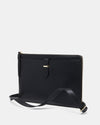 The Tycoon - Black Leather Laptop Bag and Sleeve - Front View - She Lion