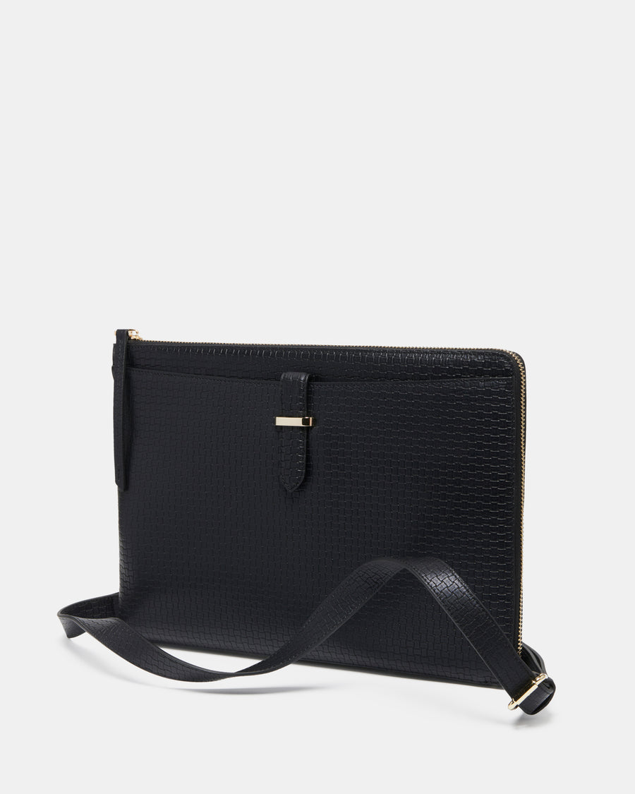 The Tycoon Tablet + Laptop Bag - Black Weave