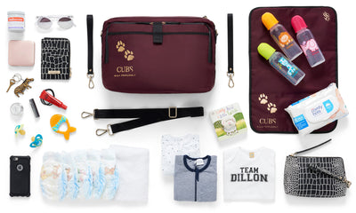 The Baby Organiser and Tote Bag Insert - Baby Nappy Bag - Top View of Organiser with Essentials - She Lion