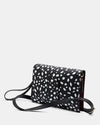 The Chic Baby Clutch - Black & White Leather Baby Nappy Bag - Long Strap + Short Strap - She Lion