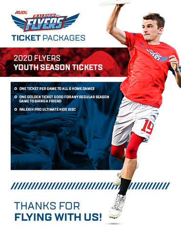 2020 Flyers Youth Season Tickets (Ages 5-12) + Kids Disc