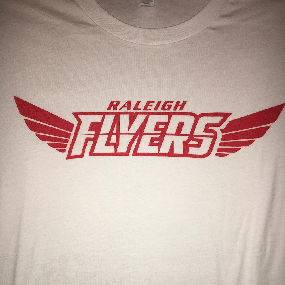 White Flyers T-Shirt with Red Logo