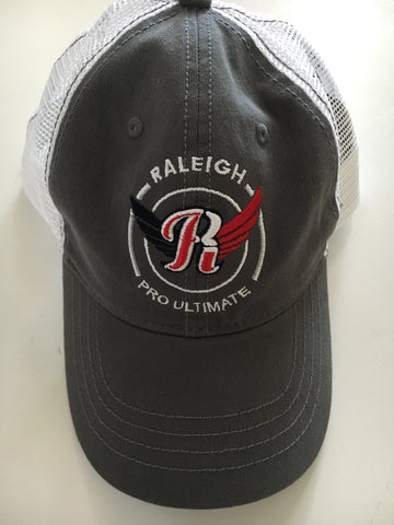 Raleigh Pro Ultimate Gray Trucker Hat