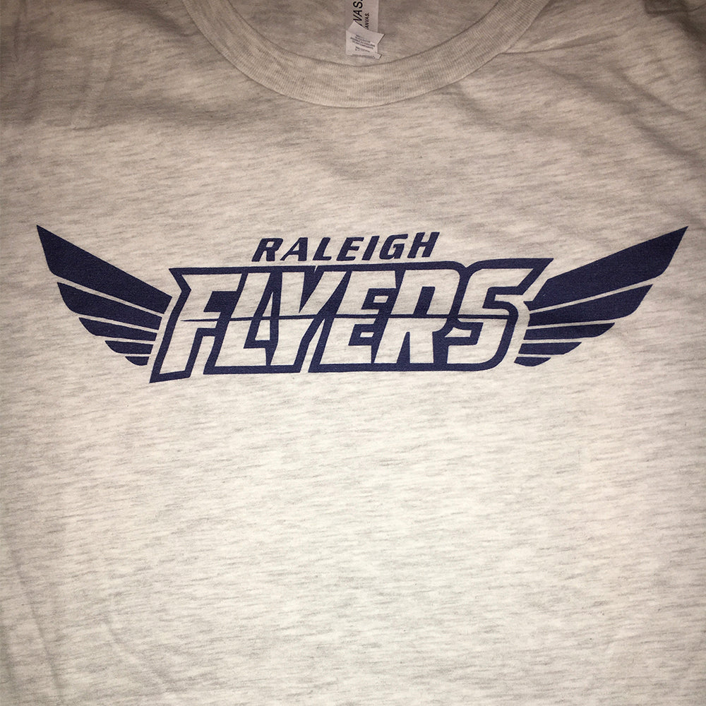 Heather Gray Flyers T-Shirt with Blue Logo