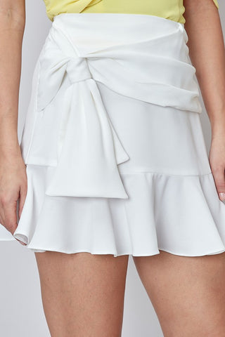 Side Tie Ruffle Skirt