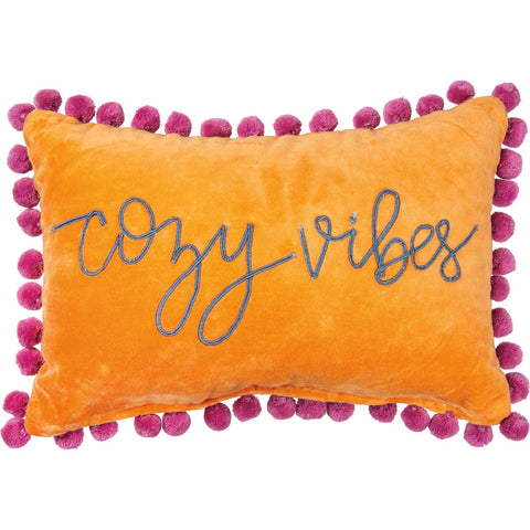 Velvet Cozy Vibes Pillow