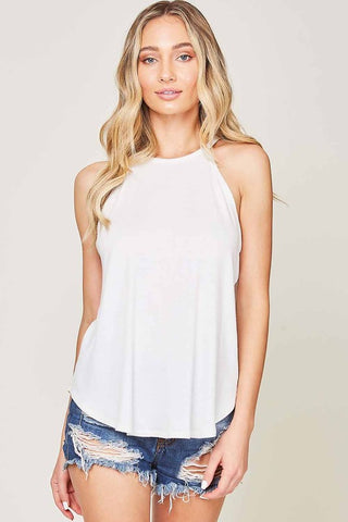 Jersey Knit Halter Tank (multiple colors)