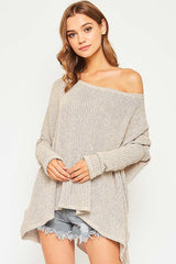 Ribbed Loose Knit Sweater