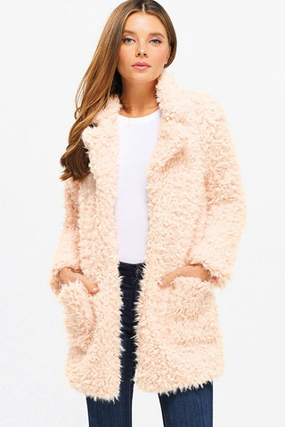Blush Pink Sherpa Coat