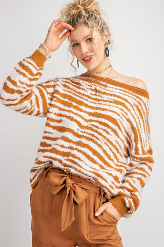 Oversized Tiger Print Sweater