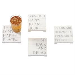 Happy Place Planked Coasters