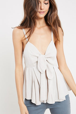 Tie-Front Sleeveless Top