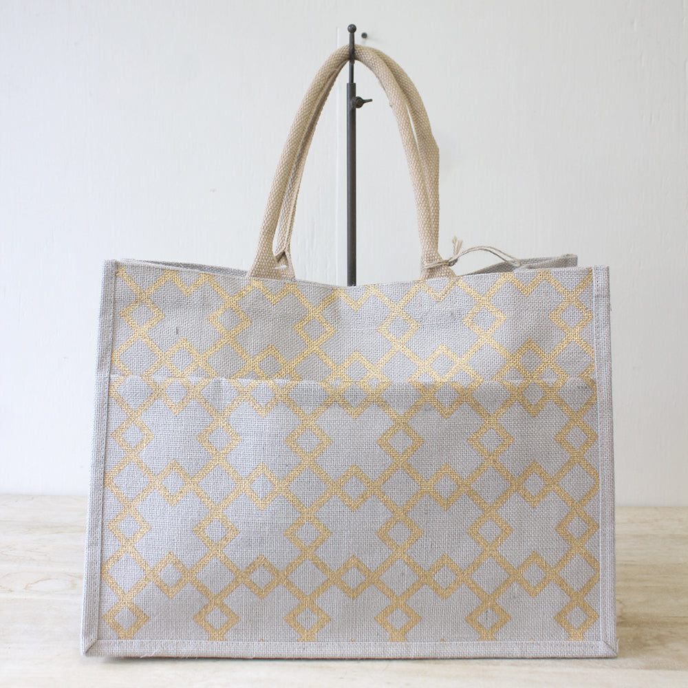 Madison Jute Pocket Tote