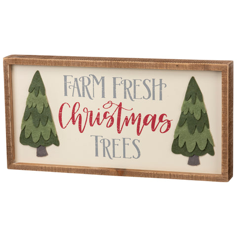 Farm Fresh Trees Box Sign