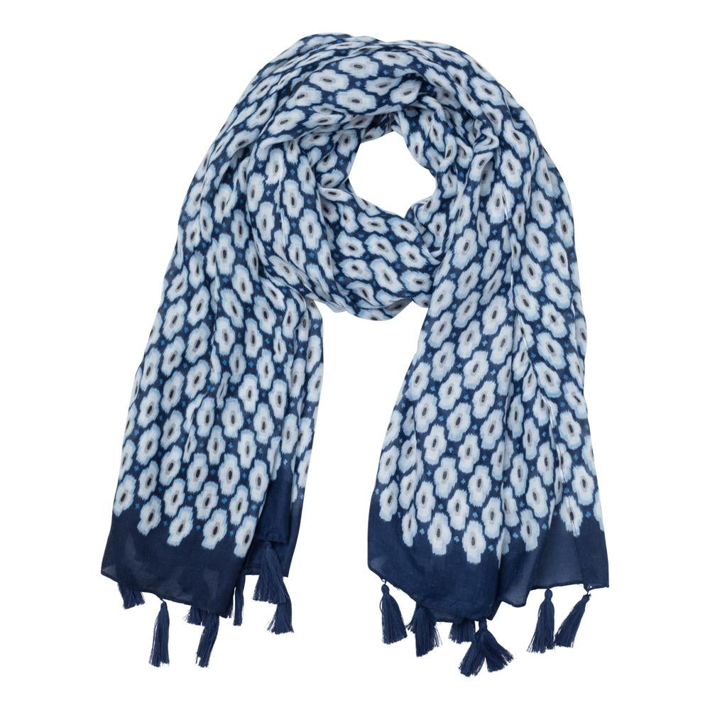 Maya Scarf in Navy