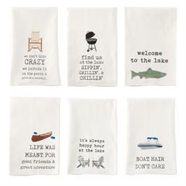 Lake Icon Hand Towels