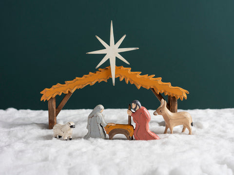 Four Piece Manger Scene