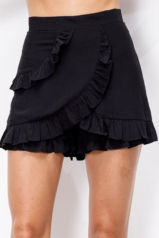 Ruffle Detail Skort (Multiple Colors)