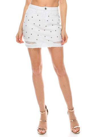 Star Studded Short Skirt