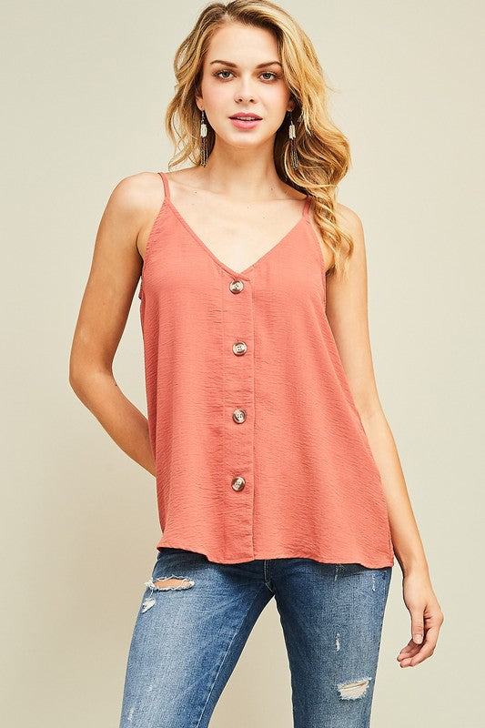 Button-up camisole