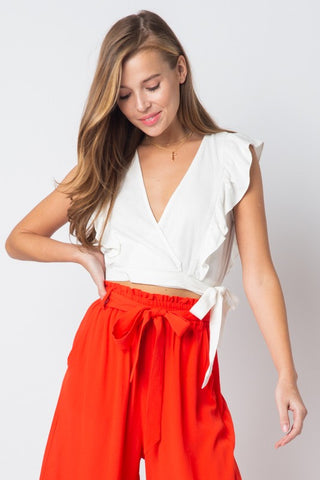 SELF WRAP CROP TOP