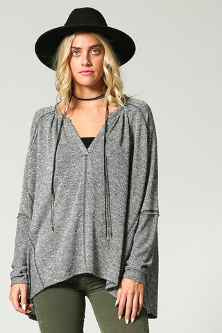 Loose Casual Long Sleeve Top (Multiple Colors)
