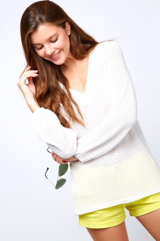 Textured Soft Long Sleeve Top