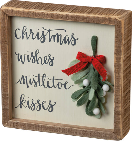 Mistletoe Kisses Box Sign