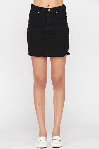 5-POCKET  COTTON DENIM MINI SKIRT